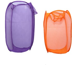 Kuber Industries 20 L Orange, Purple Laundry Bag