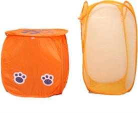 Kuber Industries 20 L Orange Laundry Bag