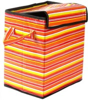 Espire 17 L Multicolor Laundry Basket Designer Cover, Hard Cover
