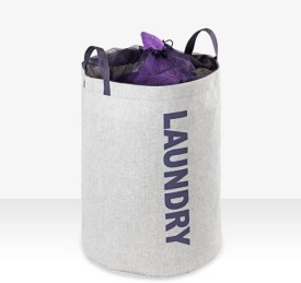 Wenko 75 L Grey Laundry Bag