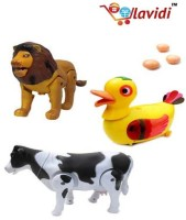 Lavidi Combo Of Three High Quality Animal Toys For Kids (Multicolor)
