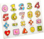 Priya Exports Learning & Educational Toys Priya Exports Numbers Wooden Puzzle With Knob
