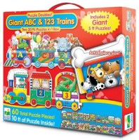 The Learning Journey Puzzle Doubles Giant ABC & 123 Train Floor Puzzle (Multicolor)