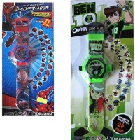 Shop & Shoppee Combo Of Spiderman & Ben 10 Projector Wristband - 24 Images (Multicolor)