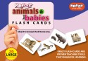 Mind Wealth Krazy Animals And Babies Flash Cards - Purple, Pink, Brown