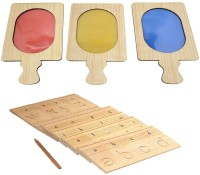 Aimedu Toy Combo Pack Of Wooden Carving Board Small And Colour Filter For Kids Learning (Multicolor)