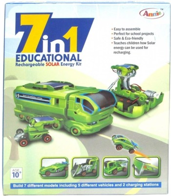 Annie 7 – In – 1 Educational Rechareable Solar E Kit, Multi Color@ 289 +2 + Shipping