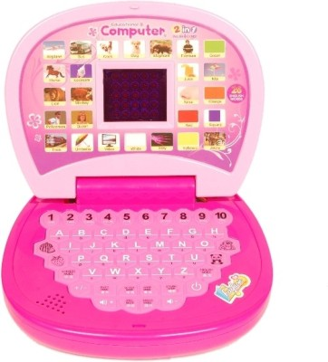 Homeshopeez Kids English Learner Mini Laptop-D (Multicolor)