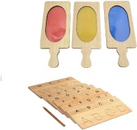 Aimedu Toy Combo Pack Of Wooden Carving Board Capital And Colour Filter For Kids Learning (Multicolor)