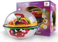 Toys Bhoomi 208 Steps 3D Magic Intellect Maze Ball Educational Learning Puzzle Game (Multicolor)