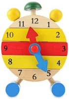 Kuhu Creations Kids Educational Blocks Wooden Clock Toys. (Multicolor)