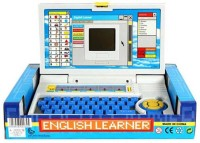 99DOTCOM English Learner Laptop For Kids 20 Activities Blue (Multicolor)