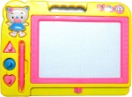 WebKreature Learning & Educational Toys WebKreature Small Yellow Color Attractive Magic Slate + Black Chalk Board
