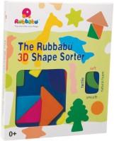 Rubbabu 3D Shape Sorter Geometrical Shapes (Multicolor)