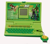 TRD Store Ben 10 English Learner Laptop For Kids (Green)
