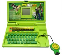 A R ENTERPRISES English Learner Laptop For Kids 20 Activities (Green)
