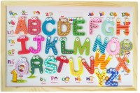 GoAppuGo 4 In 1 Magnetic Kids Writing Board Toy For Educational Learning Of Alphabet Numbers (Multicolor)
