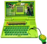 Turban Toys 20 Activities Ben 10 English Learner Kids Educational Laptop (Green)