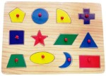 Vacfo Learning & Educational Toys Vacfo Shapes Jigsaw Puzzle Wooden