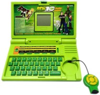 Zaprap Ben10 Educational English Learner Laptop For Kids (Green)