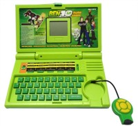 Scrazy Scrazy Ben 10 English Learner Laptop For Kids 20 Activities (Green) (Green)