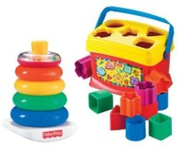 Fisher-Price Baby's First Blocks And Rock Stack Bundle (Multicolor)