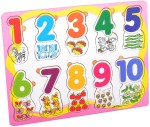Priya Exports Learning & Educational Toys Priya Exports Numbers w Pictures Wooden Puzzle