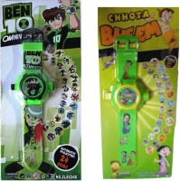 Shop & Shoppee Combo Of Ben 10 & Chhota Bheem Projector Wristband - 24 Images (Multicolor)