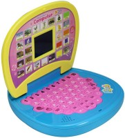 Baby World English Learner Laptop With LED Screen (Yellow, Blue)