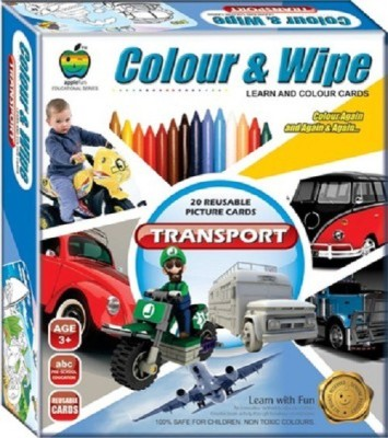 Applefun Learning & Educational Toys Applefun Colour & Wipe Transport