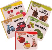 Homeshopeez Pocket Book Set Of Alphabets, Fruits, Vegetable, Animals, Vehicles (Multicolor)