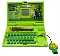 Foocat Ben10 English Learner Kids Laptop With 20 Activities (Green)