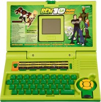 Brecken Paul Kids English Learner Ben10 Laptop With 20 Activities (Green)