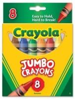 Crayola Jumbo Crayons (52-0389) (Multicolor)