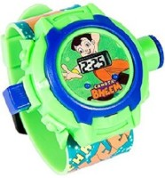 Toysbuggy Chhota Bheem 24 Images Projector Watch (Green)