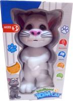 Teddy Berry Talking Tom Cat (White, Grey)