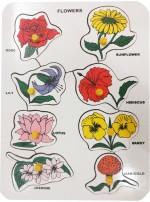 "Indiangiftbazzar Learning & Educational Toys Indiangiftbazzar Flower Tray 9""X12"" Single Pc Puzzle 9M.M"