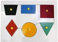 Global Toys & Games Wooden Shape (Multicolor)