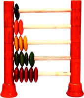 Adaa Channapatna Counting Frame - Abacus Up To 15 (Multicolor)