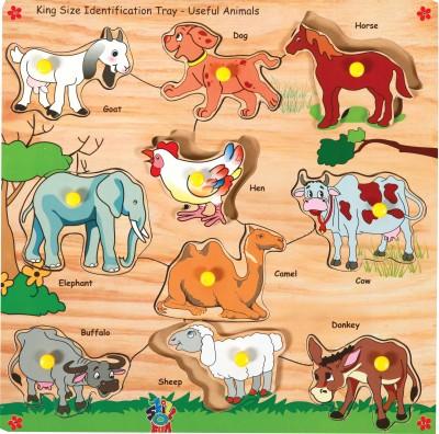 Skillofun Puzzles Skillofun Skillofun King Size Identification Tray Useful Animals