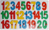 Little Genius Counting Puzzle (1-20) With Knobs (Red, Yellow, Blue, Green)