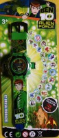 ToysBuggy Ben10 New 24 Images Projector Watch (Green)