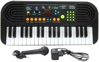V.T. 37 Keys Electronic Piano Keyboard With Microphone & LED Display (Black)