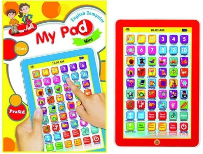 Toyoz My Smart Pad Mini English Learning Computer Touch Tablet Gift Play Toy For Kids (Multicolor)