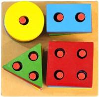 Global Toys & Games Wooden Color & Shape Shorter (Multicolor)