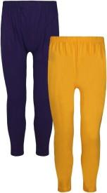 Jazzup Girl's Yellow, Purple Leggings