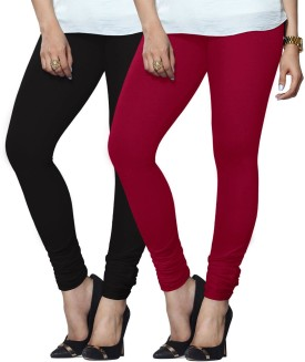 Lux Lyra Women's Black, Pink Leggings Pack Of 2