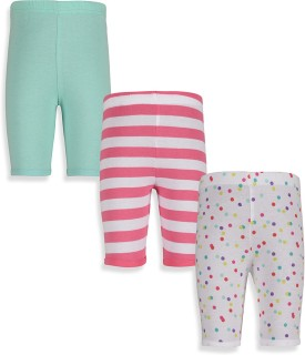 Mothercare Baby Girl's White, Green, Pink Leggings Pack Of 3