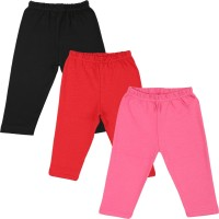 Color Fly Baby Girl's Black, Pink, Red Leggings (Pack Of 3)