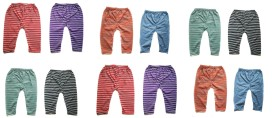 Rio Claro Baby Girl's Red, Black, Blue, Green, Purple, Orange Leggings Pack Of 12